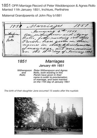 1851 Wedderspoon-Rollo OPR Marriage Record