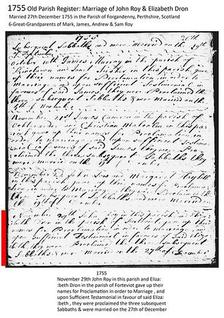 1755 Roy-Dron Marriage