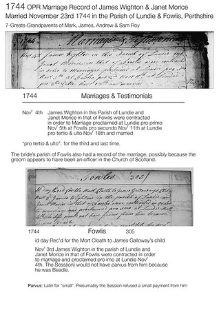 1744 Wighton-Morice marriage