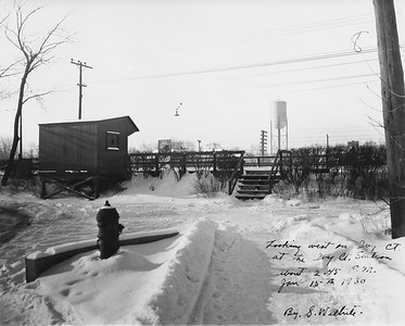2021.003.PCNW-27--john s ingles 8x10 print [Stanton Wilhite]--C&NW--view of CNS&M depot at Ivy Court looking west--Kenilworth IL--1930 0115