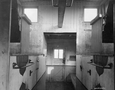 2021.003.PDTI.024--john s ingles 8x10 print--DT&I--company photo of wooden caboose 41 interior--location unknown--1922 1121