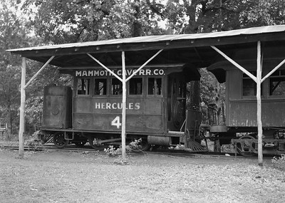 2021.003.MCRR.0004--john s ingles PC neg--MCRR--Mammoth Cave Railroad dummy steam locomotive 4 display--Mammoth Cave KY--no date