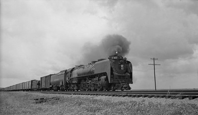 2021.003.UP.0804--john s ingles 116 neg--UP--steam locomotive 4-8-4 804 on freight train action--location unknown--no date