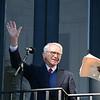 Joe Riley waved a farewell to the crowd. (Photo/Liz Segrist)