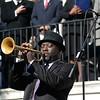 Charlton Singleton performed the national anthem during John Tecklenburg's inauguration as mayor of Charleston. (Photo/Liz Segrist)