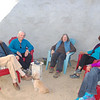 John and Carol invite me to join them with their friends in John's new meditation room outside.