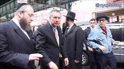 John Kasich Tours Matzah Factors And Runs From Media
