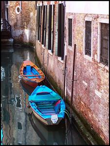 Canal Boats, Venice, Italy-1