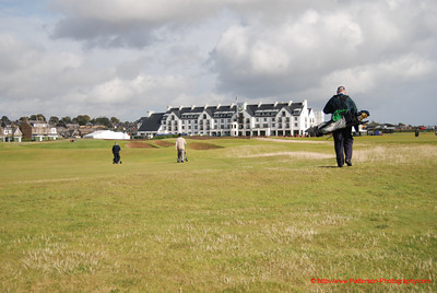 Golfing at Carnoustie, Scotland