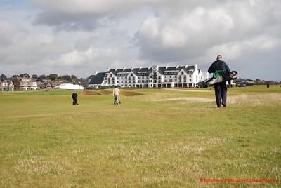Golfing at Carnoustie, Scotland