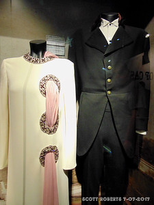 This is the outfits worn by June Carter Cash and Johnny Cash when Johnny performed at the White House during the Nixon administration.