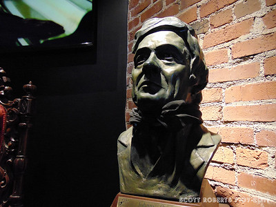 "This bust is from the defunct House of Cash and can be seen in the music video for ""Hurt."" Director Mark Romanek fell in love with the song when he first heard it and begged to shoot a video for it. Seeing the House of Cash in its abandoned decaying state inspired Romanek to use it as a metaphor for Johnny's current state... the transience of life, the gracelessness of death, the Ozymandian crumbling of an oeuvre and the decline of a genre, an era and an attitude."