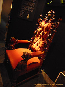 "The chair from the ""Hurt"" music video. The video is about all the hurt, heartache, fame, love, and sadness he was always so open about, which makes for a fitting end to the museum."