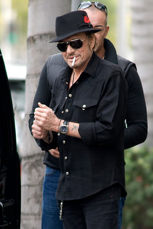 Johnny Hallyday  and Gilbert Couillet