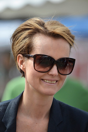 Laeticia Hallyday at the Farmers Market.