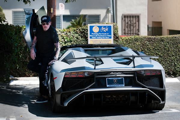 johnny Hallyday Rock with his Lamborghini