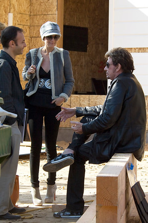 Johnny Hallyday and Laeticia a Los Angeles - 3 December 2009