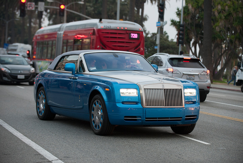 Johnny Hallyday drives a Rolls-Royce