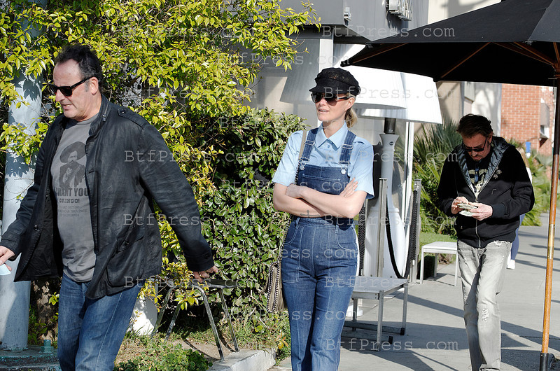 Sushi at Katsuya for Johnny Hallyday, Laeticia and Jean Reno in Brentwood, California