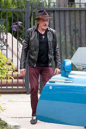 Johnny Hallyday visits Christian Audigier