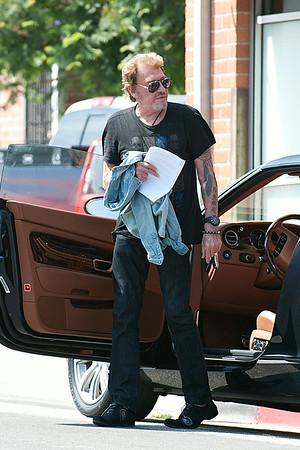 Johnny Hallyday working on his new album