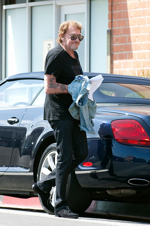 Johnny Hallyday working on his new album
