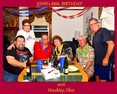 John's Birthday Celebrations In Hinckley, Ohio July 2016