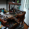 An old work desk at John's Watch and Jewelry in Lunenburg. SENTINEL & ENTERPRISE/JOHN LOVE