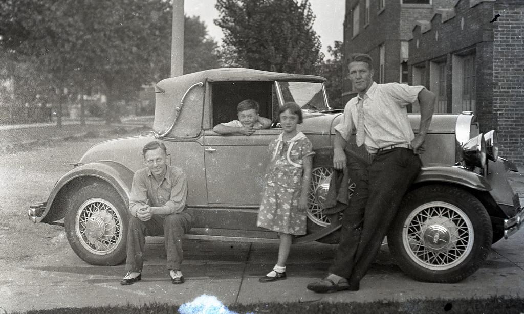 George Johnson's New Car, Chicago, 1932