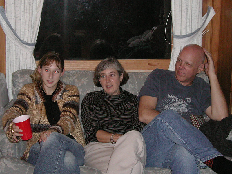 Kelly, Aunt Clara and Uncle Bob.