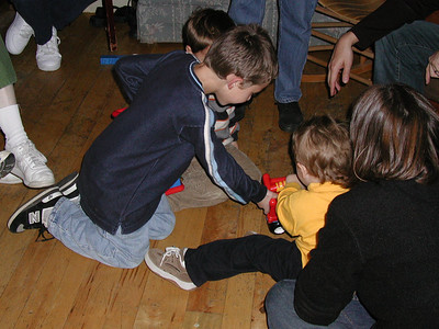 Hayden, Chrisitan, and Henry playing.