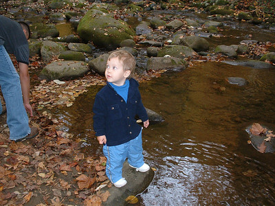 Christian at the creek.