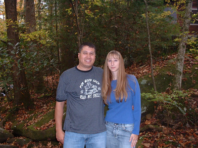 Michael and Kelly by the creek.