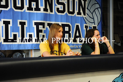 Johnson Volleyball - May 1, 2011 - Hannah Hornsby and Alyse Magnuson Signing JPP01