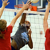 Johnson's Carnae Dillard records a kill during the Jaguars Saturday scrimmage vs Wimberley.  All area high school Volleyball Teams have now started their 2011 season.
