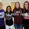 Four Johnson athletes signed national letters of intent Monday May 21 in the Jaguar Gym.  Pictured from left to right Cameron Wickes Evansville (swimming), Ayssa Garcia McMurry (volleyball), Marks Texas A&M (swimming), Bridget Gleason Queens College (soccer).