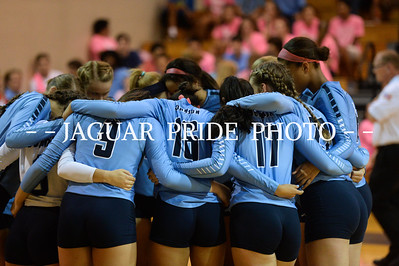 Johnson Volleyball - September 11, 2015 - Varsity vs Lee Dig Pink