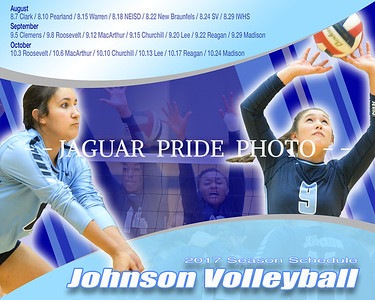 Johnson Volleyball - June 29, 2017 - Season Schedule 8x10 / 16x20 Poster