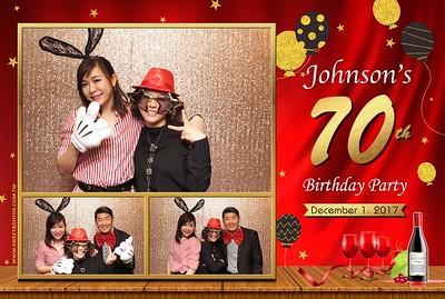 Johnson's 70th Birthday Party