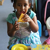 Lynn, Ma. 9-18-17. Arsema Mesmer eating a pizza she cooked at the Joi Child Care Cent in Lynn.
