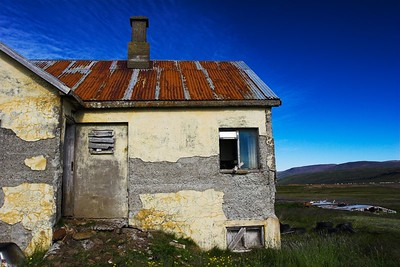 Old deserted house in the west part of Iceland.