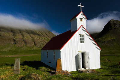 Church in Selardalur, Iceland.