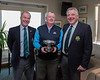 Andy Kavanagh, Club Champion 2017 with Kevin & Peter