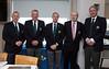 Hon Secretary Denis O'Mahoney, Incoming Captain Peter Burgess, Outgoing Captain Kevin O'Gorman, Hon Treasurer Barry Meyler and President Terence Ryan
