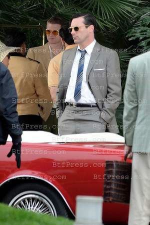 John Hamm during the set of Mad Men in Santa Monica,California on March,4 2012