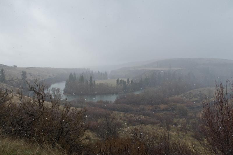 Spring Snowstorm, Yakima River