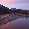 Cle Elum River at Sunset.