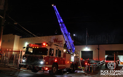 New Rochelle FD working a 2nd alarm warehouse fire at 65 Plain Ave. Dec 12, 2017.  Photos by Jon Tenca, see more at http://www.puckstopperphotography.com/p455956161!