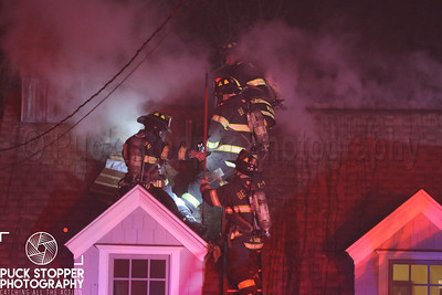 SFD and Belltown VFD working an attic fire at 114 Old North Stamford Road. Dec 25, 2017.  Photos by Jon Tenca, See more at http://www.puckstopperphotography.com/p243002413