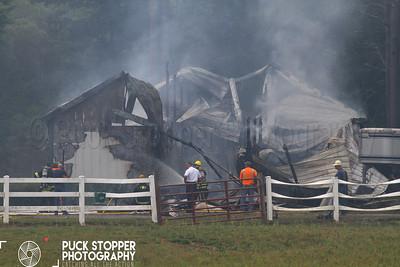 Barn Fire - 32 Bates Rd, Rochester, MA - 8/23/17